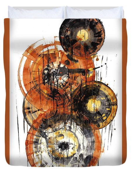 Duvet Cover featuring the painting Sphere Series 1028.050412 by Kris Haas