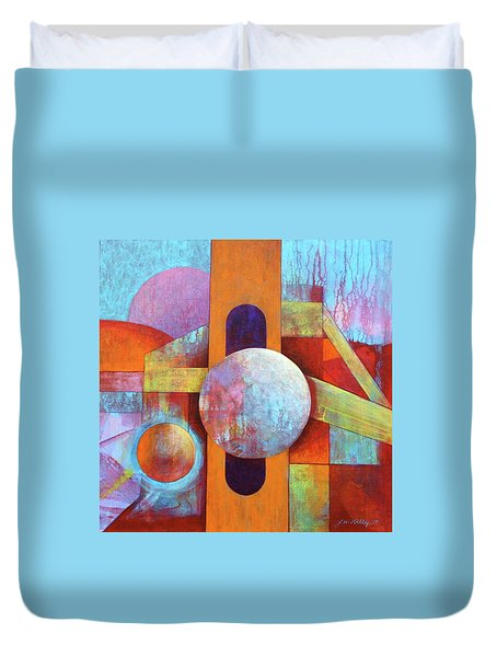 Spheres And Beams Duvet Cover by J W Kelly