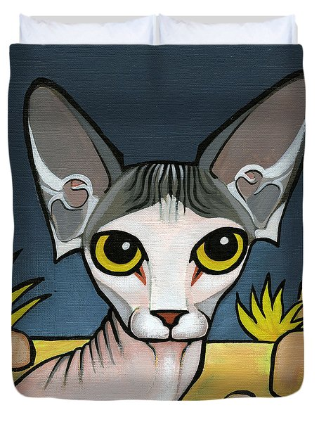 Sphinx Cat Duvet Cover by Leanne Wilkes