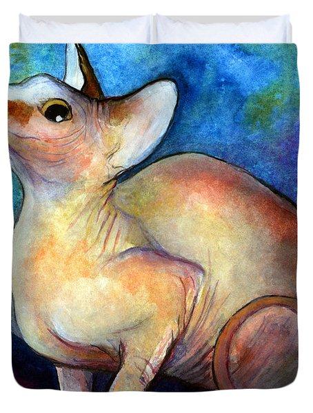 Sphynx Cat 5 Painting Duvet Cover by Svetlana Novikova
