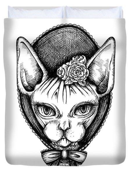 Sphynx Lady Duvet Cover