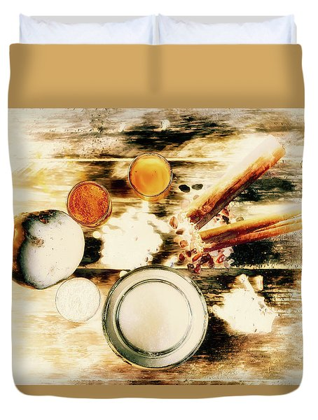 Spice Brown  Duvet Cover