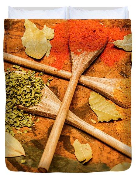Spicy Kitchen Ingredients  Duvet Cover