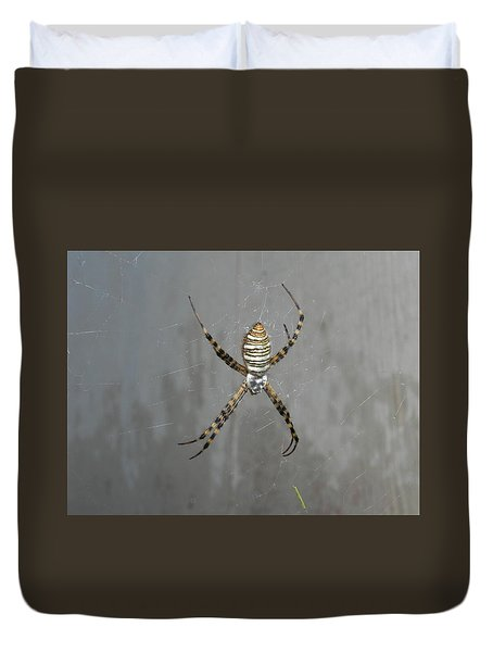 Spider Duvet Cover by Adrienne Petterson