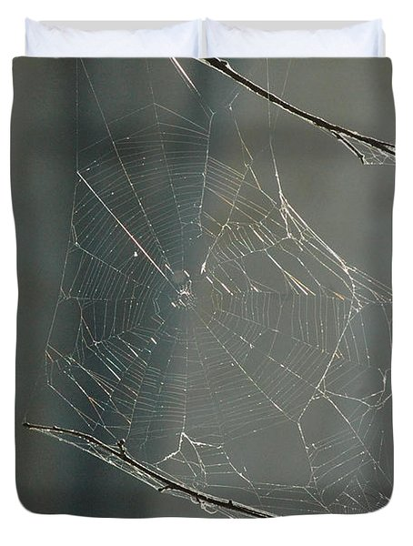 Spider Art Duvet Cover by Trish Hale