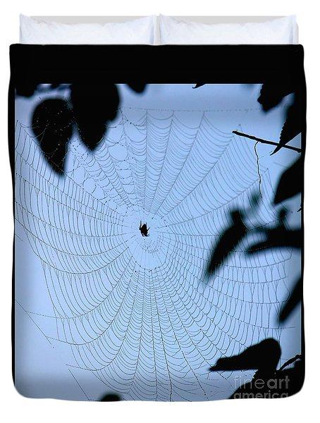 Spider In Web Duvet Cover