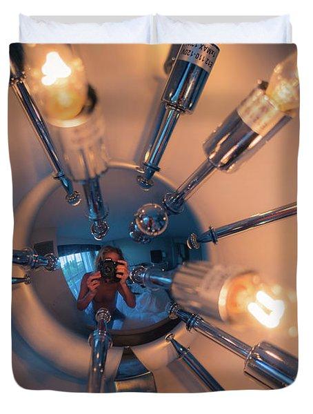 Spider Light Reflected Portrait Duvet Cover