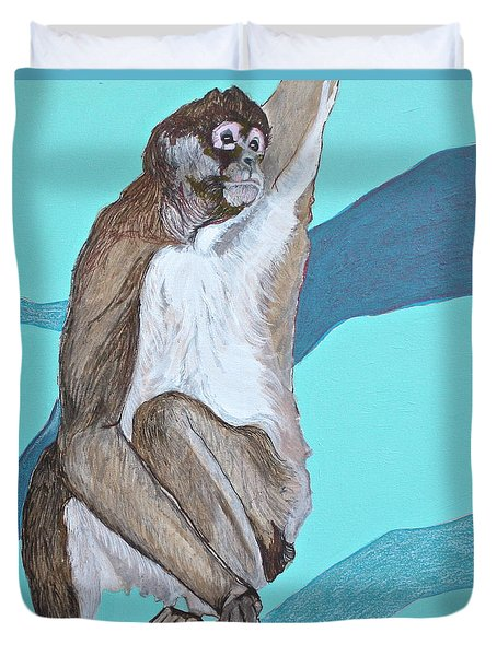 Spider Monkey Duvet Cover by Jamie Downs