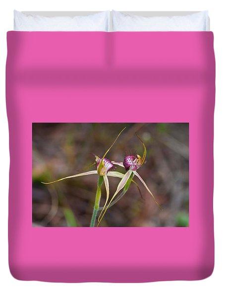Spider Orchid Australia Duvet Cover