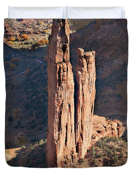 Spider Rock - Canyon De Chelly Duvet Cover