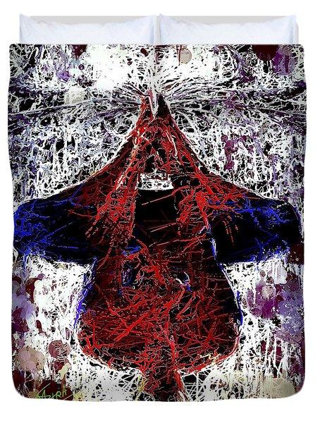 Spiderman Hanging Around Duvet Cover