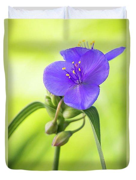 Spiderwort Wildflower Duvet Cover
