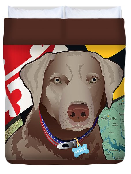Spike, The Maryland Silver Lab Duvet Cover