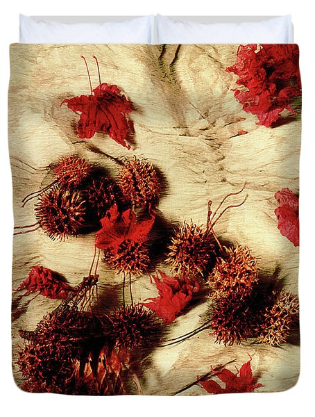 Spiked Nuts Red Duvet Cover
