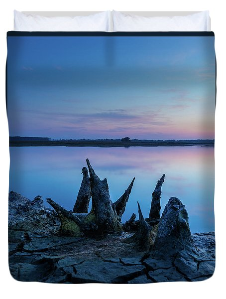 Duvet Cover featuring the photograph Spikes In Blue by Davor Zerjav