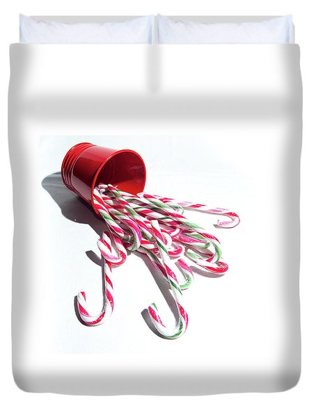 Spilled Candy Canes Duvet Cover