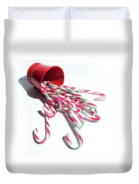 Spilled Candy Canes Duvet Cover