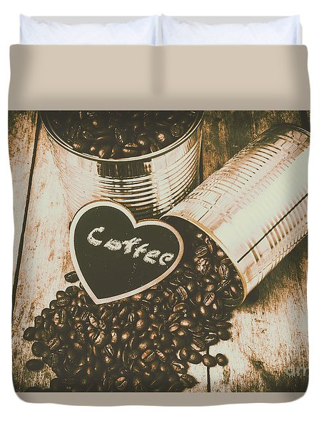 Spilling The Beans Duvet Cover