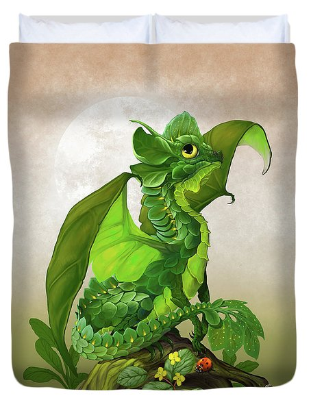 Spinach Dragon Duvet Cover by Stanley Morrison