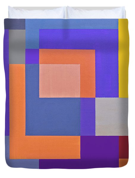Spring 3 Abstract Composition Duvet Cover