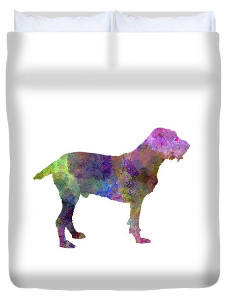 Spinone In Watercolor Duvet Cover by Pablo Romero