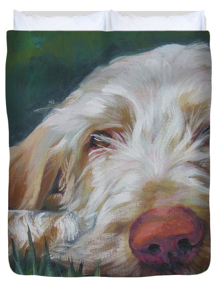 Spinone Italiano Orange Duvet Cover