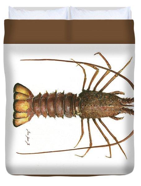 Spiny Lobster Duvet Cover