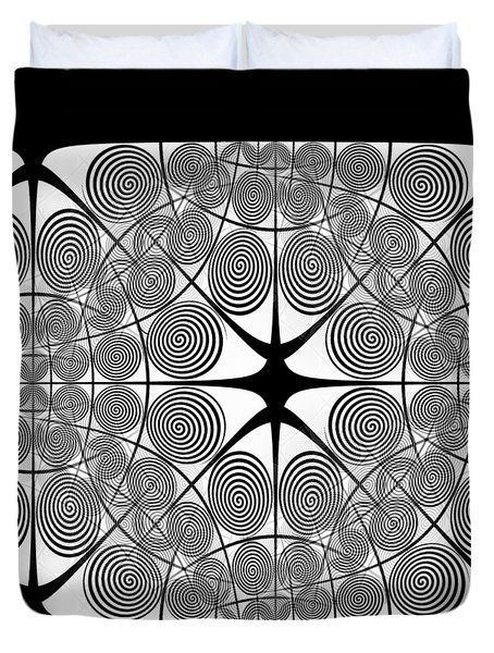Spiral Abstract 7 Colour Choice Duvet Cover