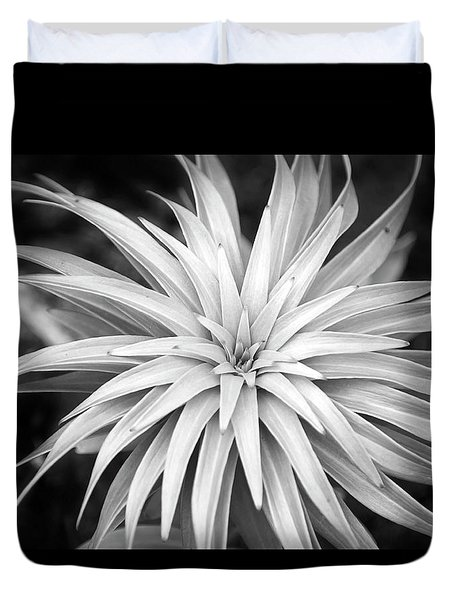 Duvet Cover featuring the photograph Spiral Black And White by Christina Rollo