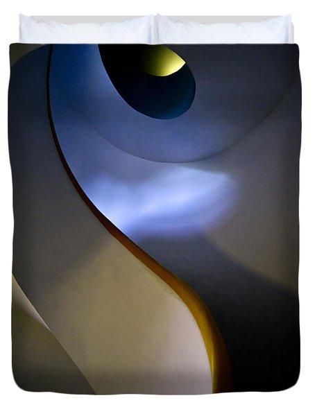 Spiral Concrete Modern Staircase Duvet Cover