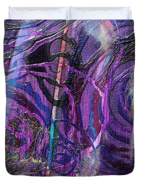 Spiral Detail From Annunciation Duvet Cover