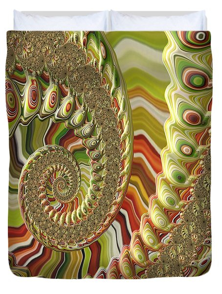 Duvet Cover featuring the photograph Spiral Fractal by Bonnie Bruno