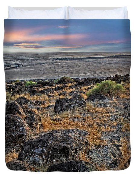 Spiral Jetty Duvet Cover
