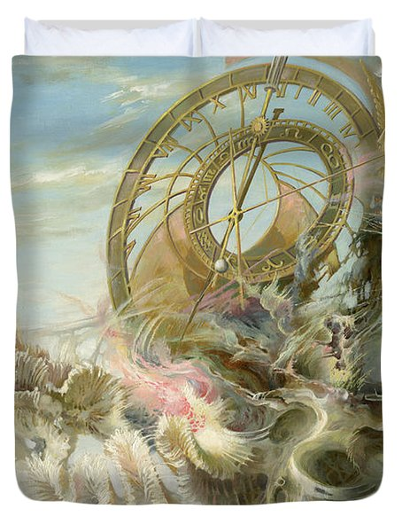 Spiral Of Time Duvet Cover