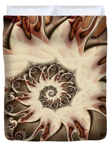 Duvet Cover featuring the digital art Spiral S'mores by Michelle H