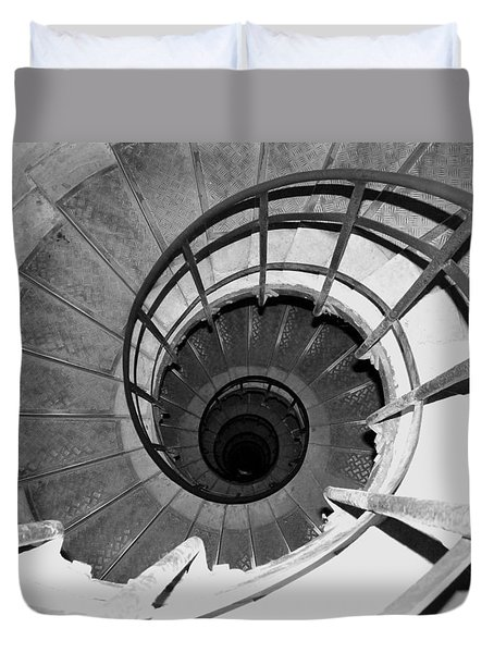 Duvet Cover featuring the photograph Spiral Staircase At The Arc by Donna Corless