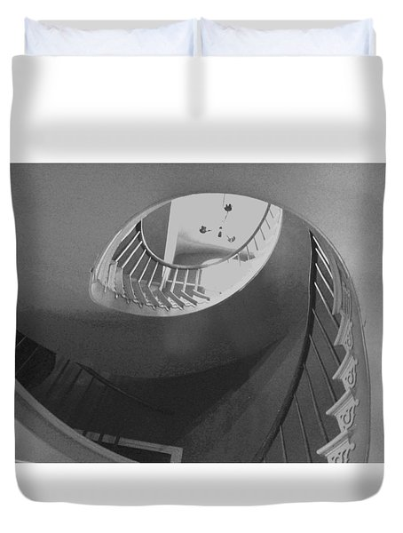 Spiral Stairs Duvet Cover by Helen Haw