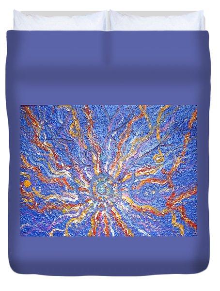 Spirale Money Magnet Duvet Cover by Joanna Pilatowicz
