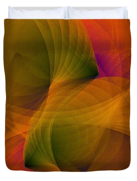 Spiraling Insight With Complicated Continuation Duvet Cover