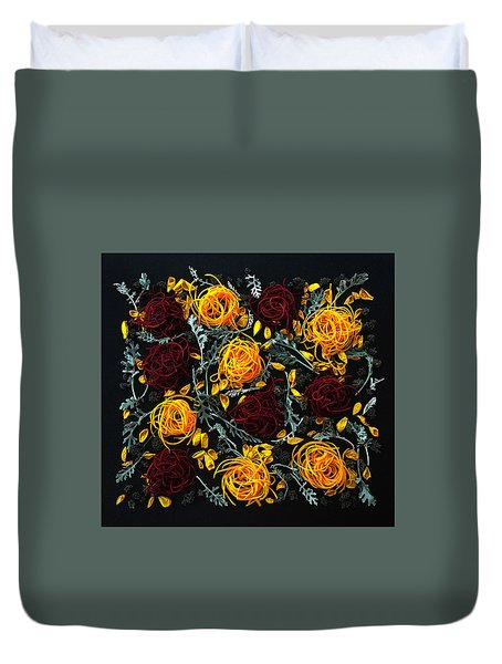 Spiralized Beets And Squash Duvet Cover