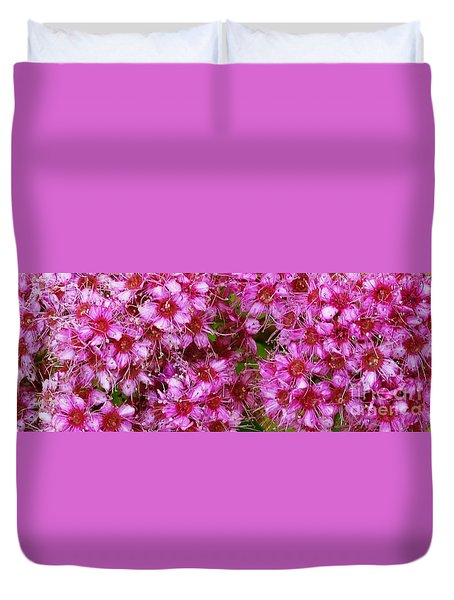 Duvet Cover featuring the photograph Spirea Pink  by J L Zarek