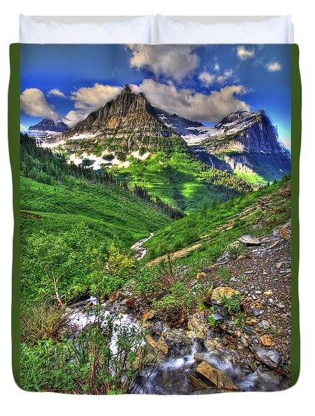 Spires And Stream Duvet Cover