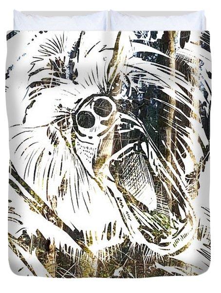Spirit Animal . Bear Duvet Cover