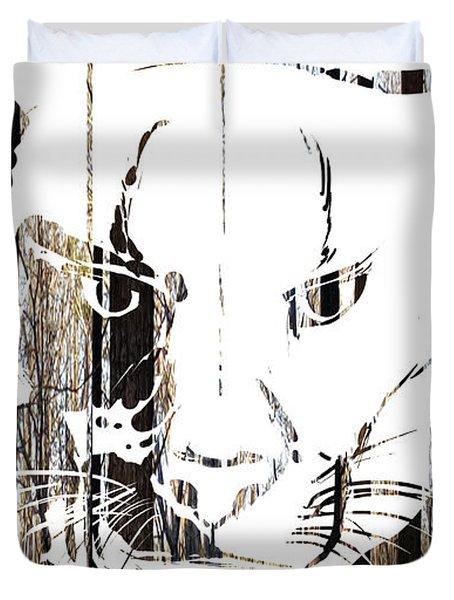 Spirit Animal . Cougar Duvet Cover