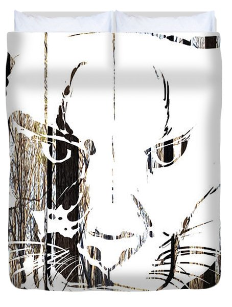 Spirit Animal . Cougar Duvet Cover