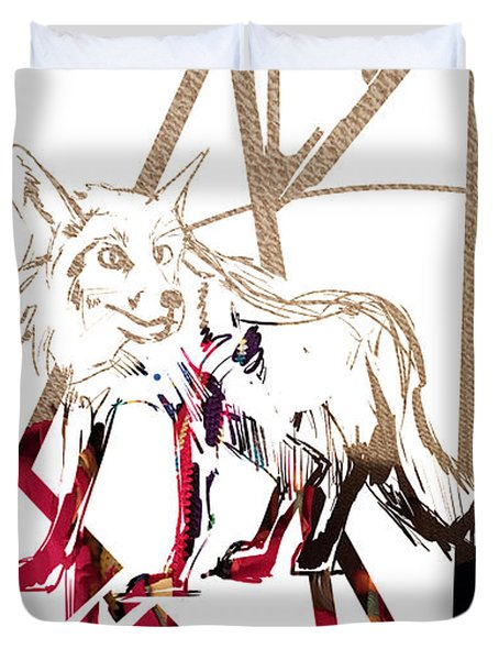 Spirit Animal . Fox Duvet Cover