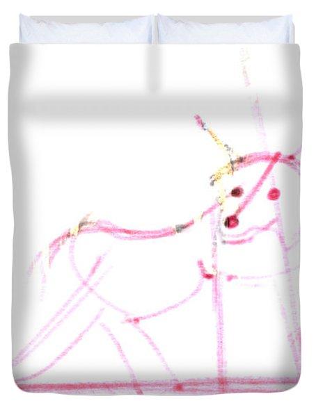 Spirit Animal . Ghost Fox Duvet Cover