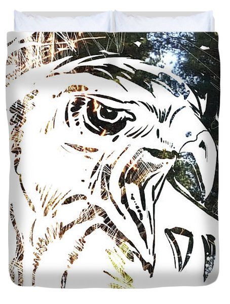 Spirit Animal . Hawk Duvet Cover
