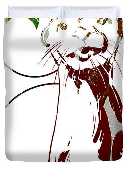 Spirit Animal . Otter Duvet Cover