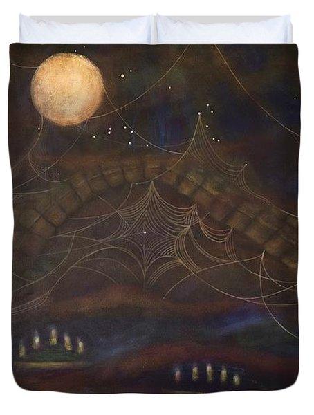 Spirit Bear Duvet Cover by Deborha Kerr